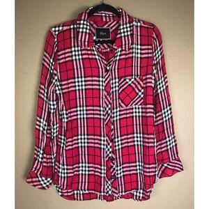 RAILS | Plaid Red Shirt Size Large